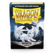 Dragon Shield Standard Sleeves - Matte White (60 Sleeves)