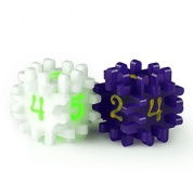 Blackfire Constructible Dice - White & Purple