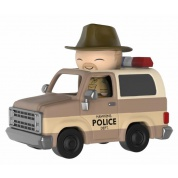 Funko Dorbz Ridez Stranger Things - Hopper and Sheriff Deputy Truck Collectible Figure 24cm