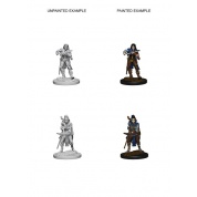 Pathfinder Deep Cuts Unpainted Miniatures - Elf Female Bard (6 Units)