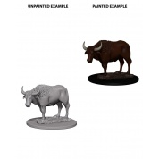 WizKids Deep Cuts Unpainted Miniatures - Oxen (6 Units)