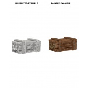 WizKids Deep Cuts Unpainted Miniatures - Crates (6 Units)