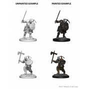 D&D Nolzur's Marvelous Miniatures - Earth Genasi Male Fighter (6 Units)