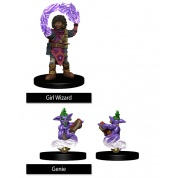 WizKids Painted Miniatures: Girl Wizard & Genie (6 Units)