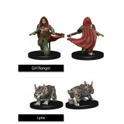 WizKids Painted Miniatures: Girl Ranger & Lynx (6 Units)