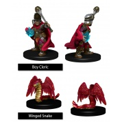 WizKids Painted Miniatures: Boy Cleric & Winged Snake (6 Units)