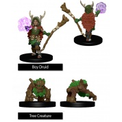 WizKids Painted Miniatures: Boy Druid & Tree Creature (6 Units)