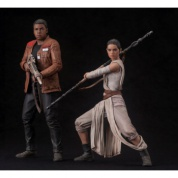 Star Wars Episode VII The Force Awakens ARTFX+ Series - Rey & Finn 2-Pack 1/10 Scale 15-18cm Statues (Slightly damaged box)