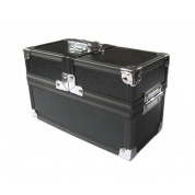 The Crypt - Lockable Double Metal Deck/Dice/Toploader Box - Black