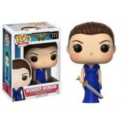 Funko POP! Heroes - Wonder Woman in Blue Gown Vinyl Figure 10cm