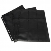 Blackfire 18-Pocket Pages - Black - Top Loading (50 pcs)