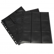 Blackfire 18-Pocket Pages - Black - Side Loading (50 pcs)