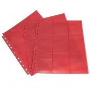 Blackfire 18-Pocket Pages - Red - Sideloading (50 pcs)