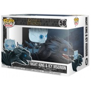 Funko POP Rides! - Game Of Thrones Night King & Icy Viserion Vinyl Figure Set 12cm/15cm long (Glows in the dark))
