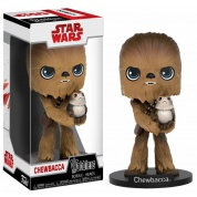 Funko Wacky Wobblers New Edition Star Wars Episode 8 The Last Jedi - Chewbacca With Porg Bobble Head Action Figure 15cm