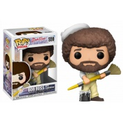 Funko! POP! Television Joy Of Painting Series 2 - Bob Ross in Overalls Vinyl Figure 10cm