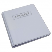 Blackfire 4 Pocket Card Album - White