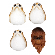 Funko POP! Homewares Star Wars Episode 8: The Last Jedi - Magnet Set Chewbacca & Porgs