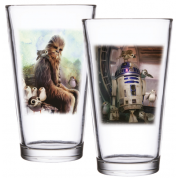 Funko POP! Homewares Star Wars Episode 8: The Last Jedi - Pint Glass Set of 2: Chewbacca & R2-D2
