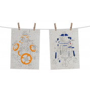 Funko POP! Homewares Star Wars Episode 8: The Last Jedi - Tea Towel Set of 2: Droids Exploded View