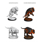 Pathfinder Deep Cuts Unpainted Miniatures - Hell Hounds (6 Units)