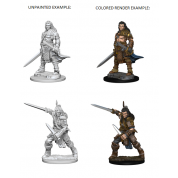 Pathfinder Deep Cuts Unpainted Miniatures - Human Male Fighter (6 Units)