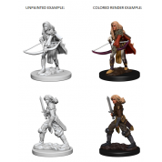 Pathfinder Deep Cuts Unpainted Miniatures - Human Female Fighter (6 Units)