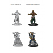 Pathfinder Deep Cuts Unpainted Miniatures - Human Male Monk (6 Units)