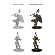 Pathfinder Deep Cuts Unpainted Miniatures - Half-Orc Female Barbarian (6 Units)