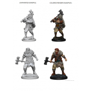 D&D Nolzur's Marvelous Unpainted Miniatures - Human Male Barbarian (6 Units)