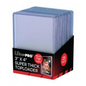 "UP - 3"" x 4"" Thick 75PT Toploader (25 Pieces)"