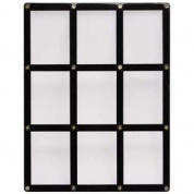 UP - 9-Card Black Frame Screwdown Holder