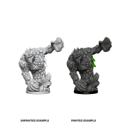 Pathfinder Deep Cuts Unpainted Miniatures - Medium Earth Elemental (6 Units)