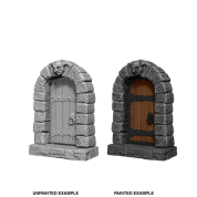 WizKids Deep Cuts Unpainted Miniatures - Doors (6 Units)