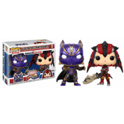 Funko POP! Games - Black Panther vs Monster Hunter 2-Pack Vinyl Figures 10cm