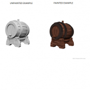 WizKids Deep Cuts Unpainted Miniatures - Keg Barrels (6 Units)
