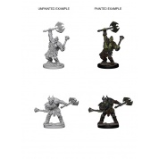 Pathfinder Deep Cuts Unpainted Miniatures - Half-Orc Male Barbarian (6 Units)
