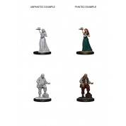 Pathfinder Deep Cuts Unpainted Miniatures - Merchants (Serving Girl/Merchant) (6 Units)