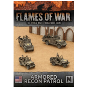 Flames of War - Armored Recon Patrol (2 x M3 Scout Car, 2 x Jeep) - EN