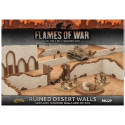 Flames of War - Ruined Desert Walls (10x Walls) - EN