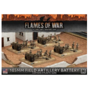 Flames of War - 105mm Field Artillery Battery (4x) - EN