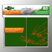 Blackfire Sleeves - Standard Double-Matte Green (80 Sleeves)