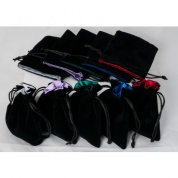 Blackfire Dice - Velvet Dice Bags 10x10Cm with Satin Lining (mixed colors) & No Logo (20 Bags)