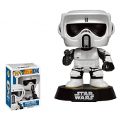 Funko POP! - Star Wars: Biker Scout Bobble Head 4-inch