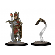 WizKids Wardlings RPG Figures: Girl Fighter & Hunting Falcon (6 Units)
