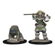 WizKids Wardlings RPG Figures: Girl Druid & Stone Creature (6 Units)