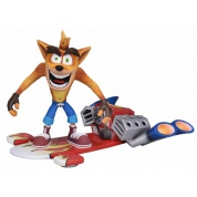 Crash Bandicoot - Action Figure - Deluxe Hoverboard Crash 18cm