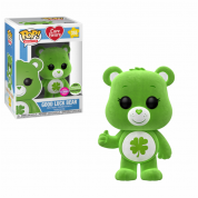 Funko POP! Care Bears - Good Luck Bear Flocked Vinyl Figure 10cm ECCC Exclusive