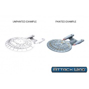 Star Trek: Attack Wing Deep Cuts Unpainted Miniatures - Galaxy Class (6 Units)