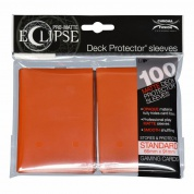 UP - Standard Sleeves - PRO-Matte Eclipse - Pumpkin Orange (100 Sleeves)